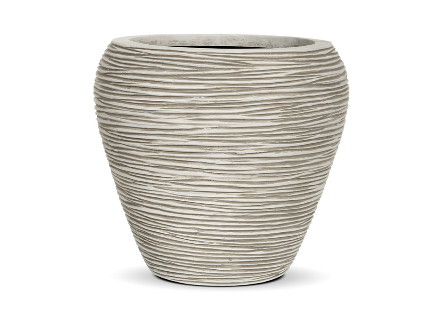 Capi Europe outdoor vase tapered round rib - capi europe