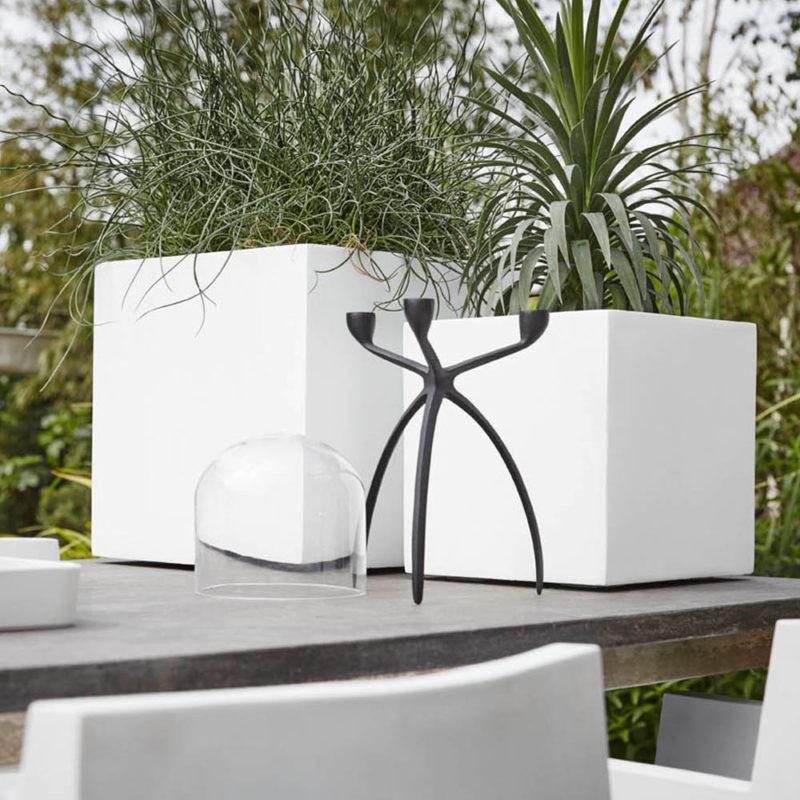 Witte Bloempot Vierkant.Design Bloempotten Voor Binnen En Buiten Capi Europe